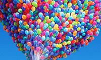 Подарок с воздушными шарами